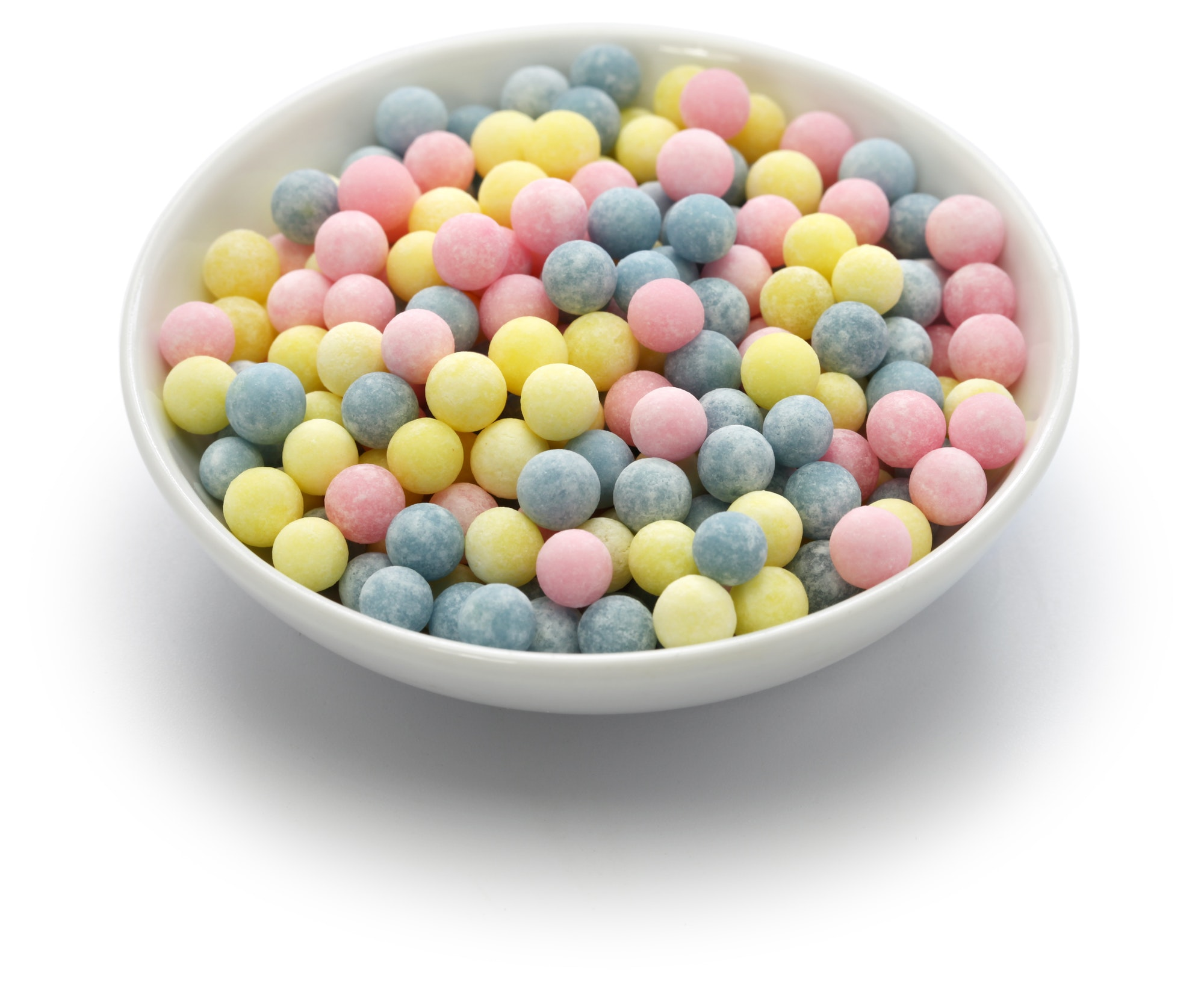 colored tapioca pearls